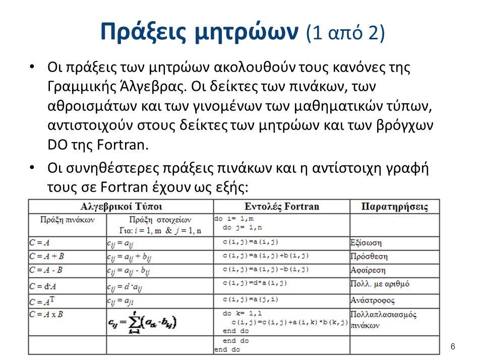 Συναρτήσεις εντολής Απλές συναρτήσεις μπορούν να δημιουργηθούν και μέσα σε ένα πρόγραμμα χωρίς τη χρήση της FUNCTION, αρκεί να περιγράφονται σε μια μόνο εντολή.