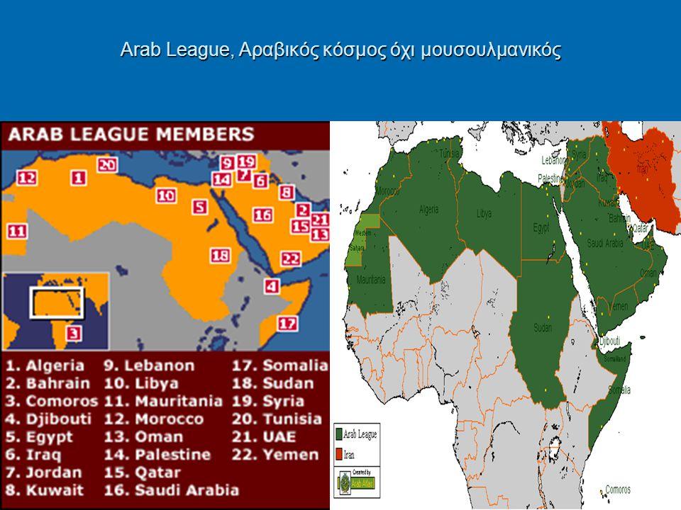 Arab League, Αραβικός κόσμος όχι μουσουλμανικός