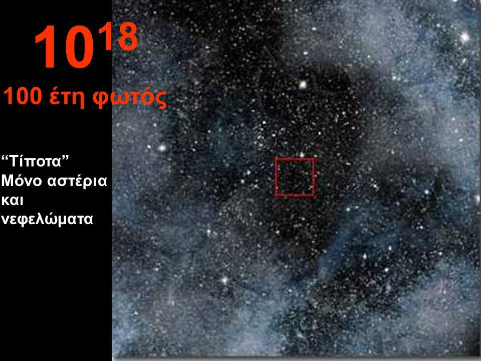 Εδώ δε διακρίνουμε τίποτα απολύτως, στο άπειρο. 10 17 10 έτη φωτός