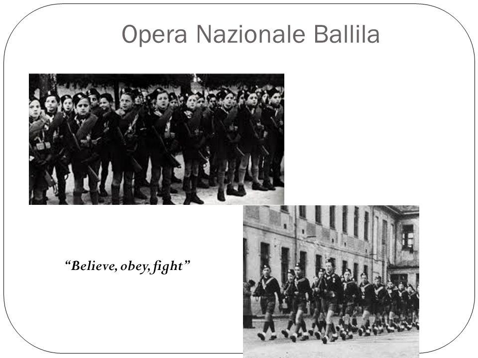 Opera Nazionale Ballila Believe, obey, fight
