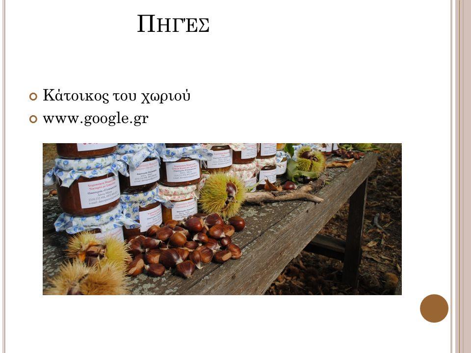 Π ΗΓΈΣ Κάτοικος του χωριού www.google.gr