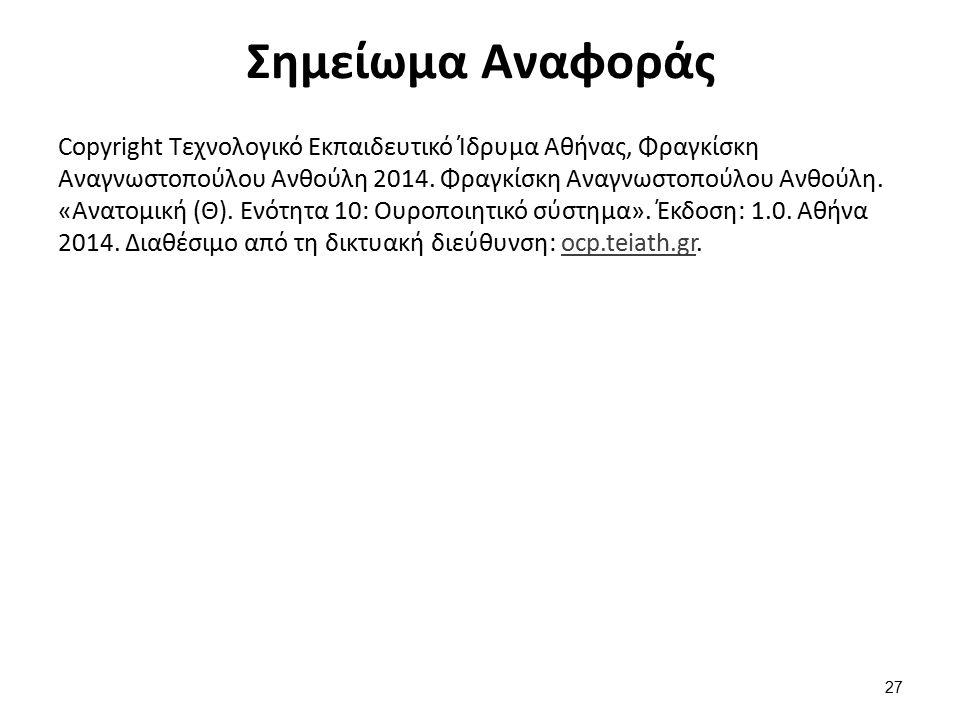 Σημείωμα Αναφοράς Copyright Τεχνολογικό Εκπαιδευτικό Ίδρυμα Αθήνας, Φραγκίσκη Αναγνωστοπούλου Ανθούλη 2014. Φραγκίσκη Αναγνωστοπούλου Ανθούλη. «Ανατομ