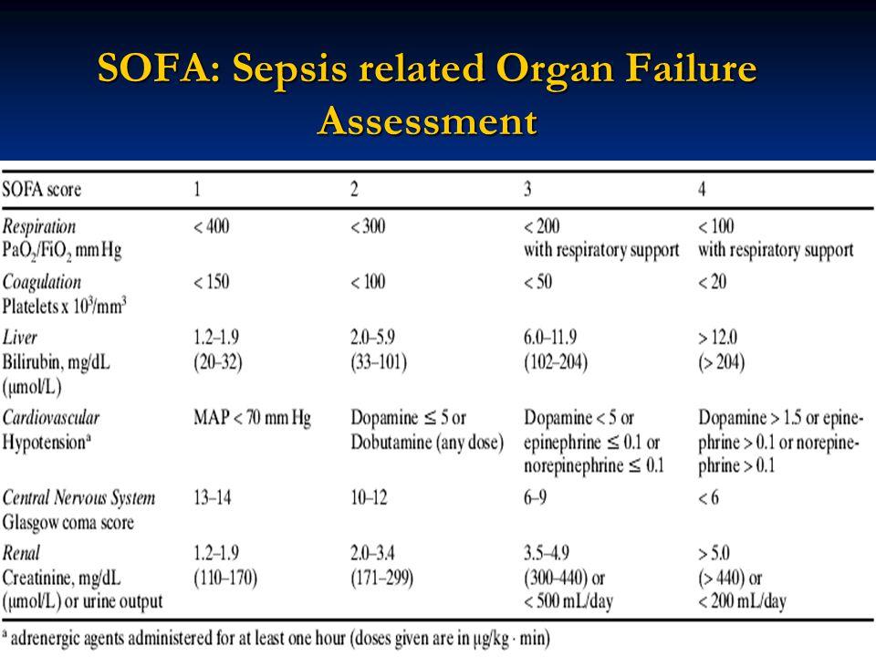 SOFA: Sepsis related Organ Failure Assessment 47