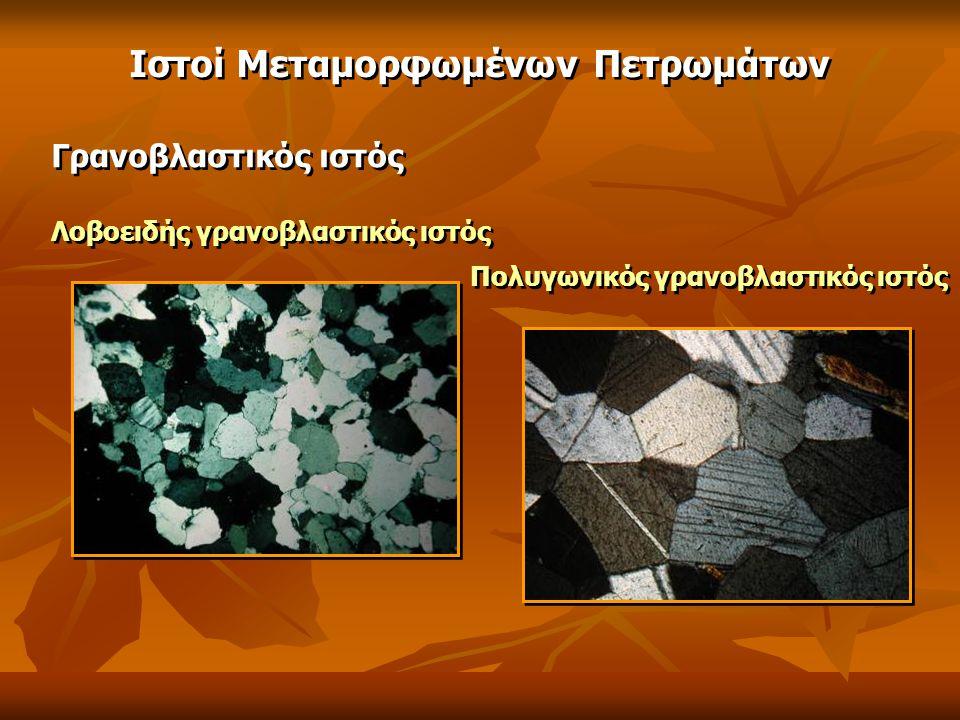 Γρανοβλαστικός ιστός Λοβοειδής γρανοβλαστικός ιστός Πολυγωνικός γρανοβλαστικός ιστός Ιστοί Μεταμορφωμένων Πετρωμάτων