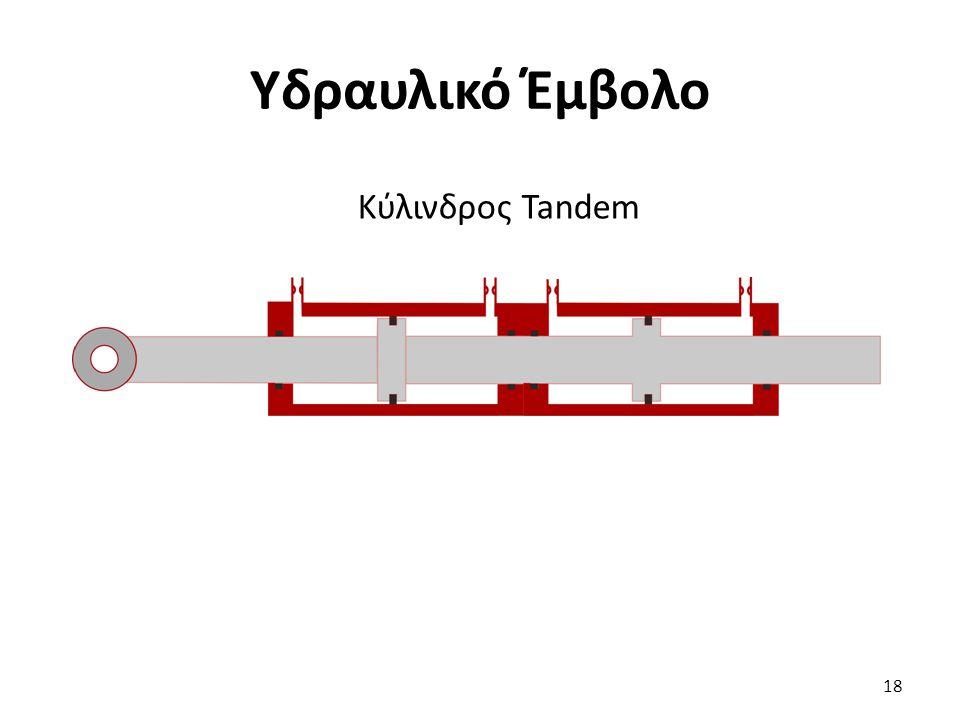 18 Υδραυλικό Έμβολο Κύλινδρος Tandem