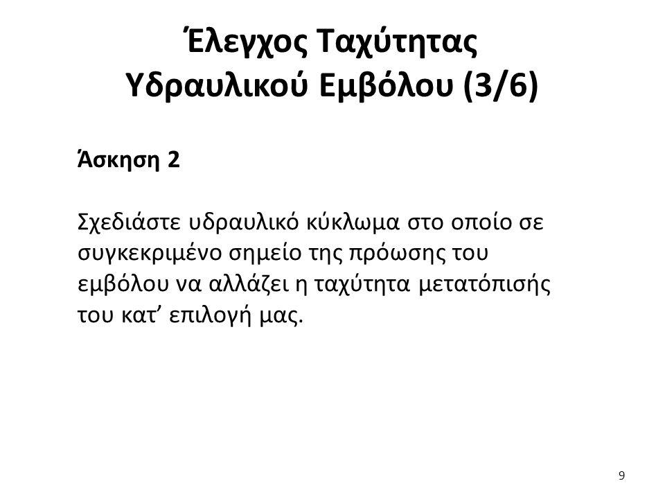 10 Έλεγχος Ταχύτητας Υδραυλικού Εμβόλου (4/6)