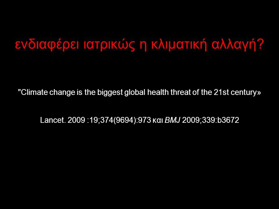 ενδιαφέρει ιατρικώς η κλιματική αλλαγή?