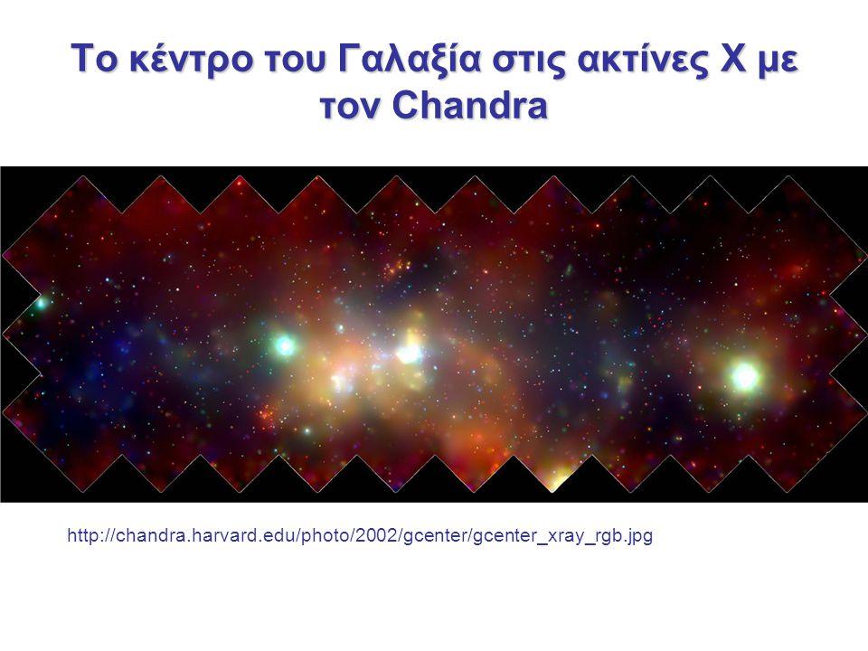 Το κέντρο του Γαλαξία στις ακτίνες Χ με τον Chandra http://chandra.harvard.edu/photo/2002/gcenter/gcenter_xray_rgb.jpg
