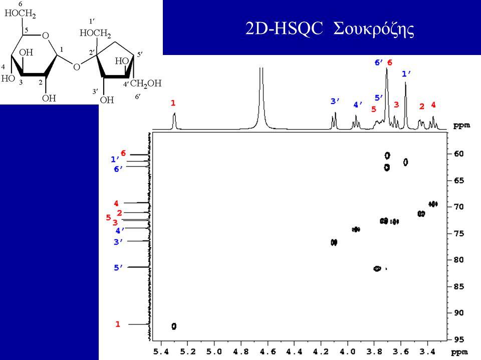 40 2D-HSQC Σουκρόζης