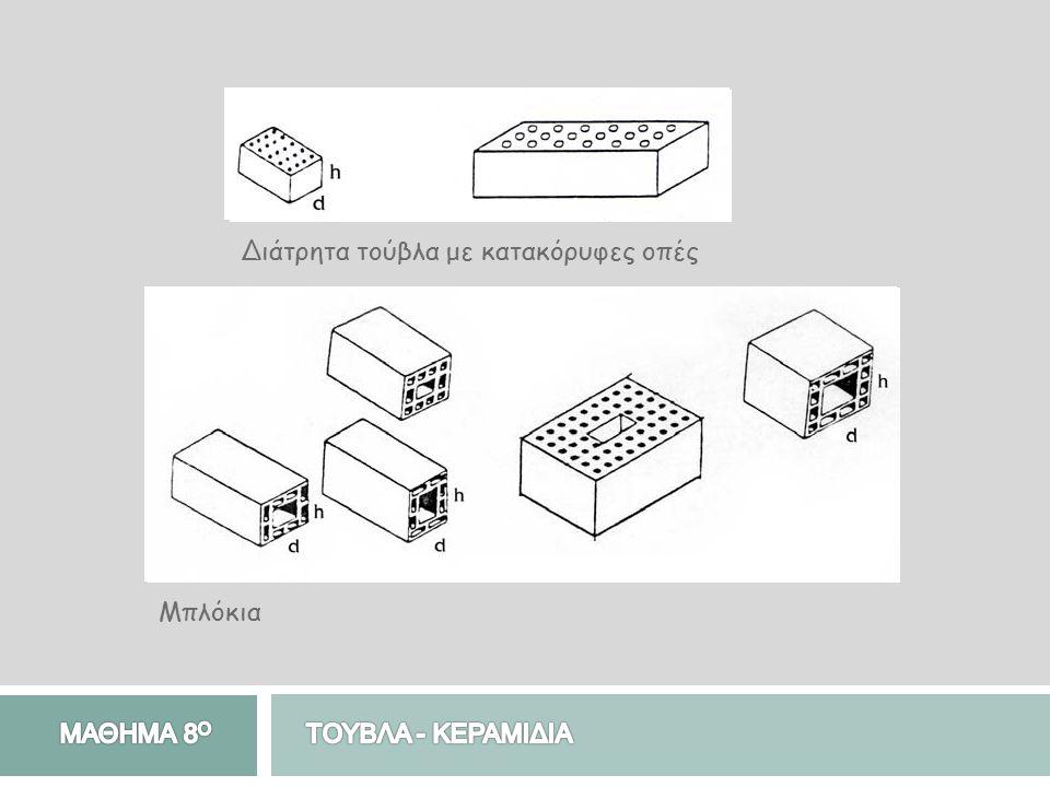 Τούβλα δαπέδων Είναι ειδικά χρωματιστά τούβλα, τα οποία χρησιμοποιούνται στην κατασκευή δαπέδων εσωτερικού ή εξωτερικού χώρου.
