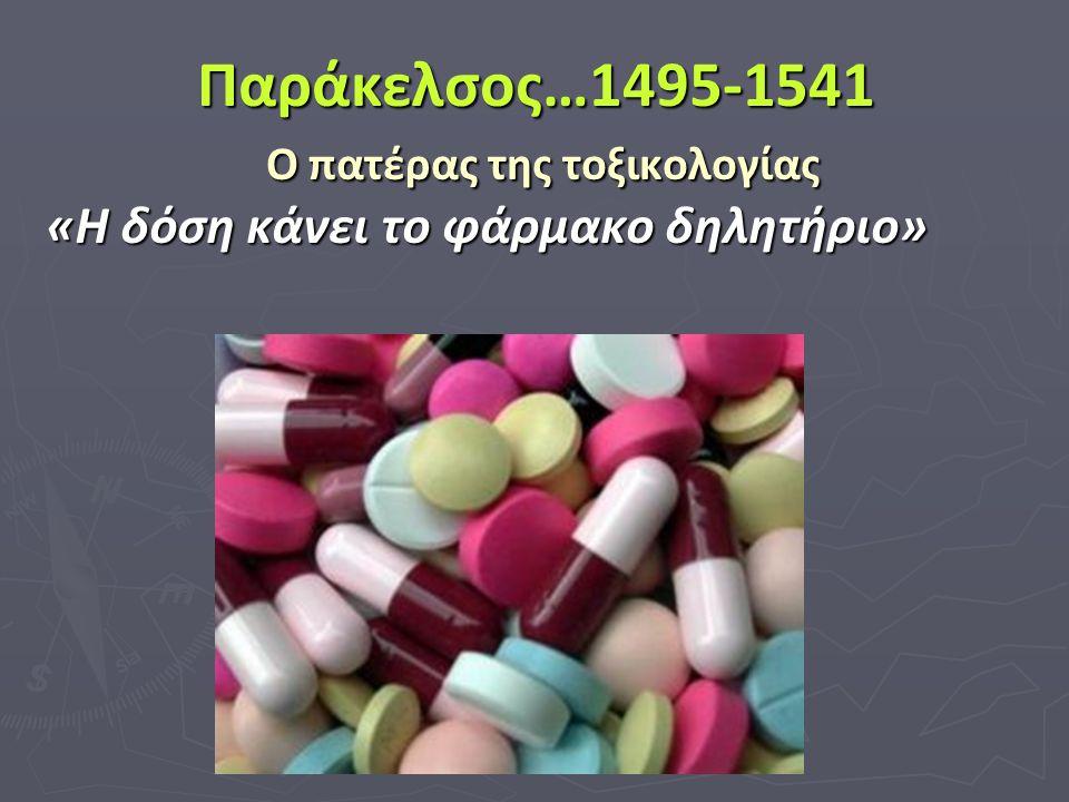 Παράκελσος…1495-1541 Ο πατέρας της τοξικολογίας «Η δόση κάνει το φάρμακο δηλητήριο»