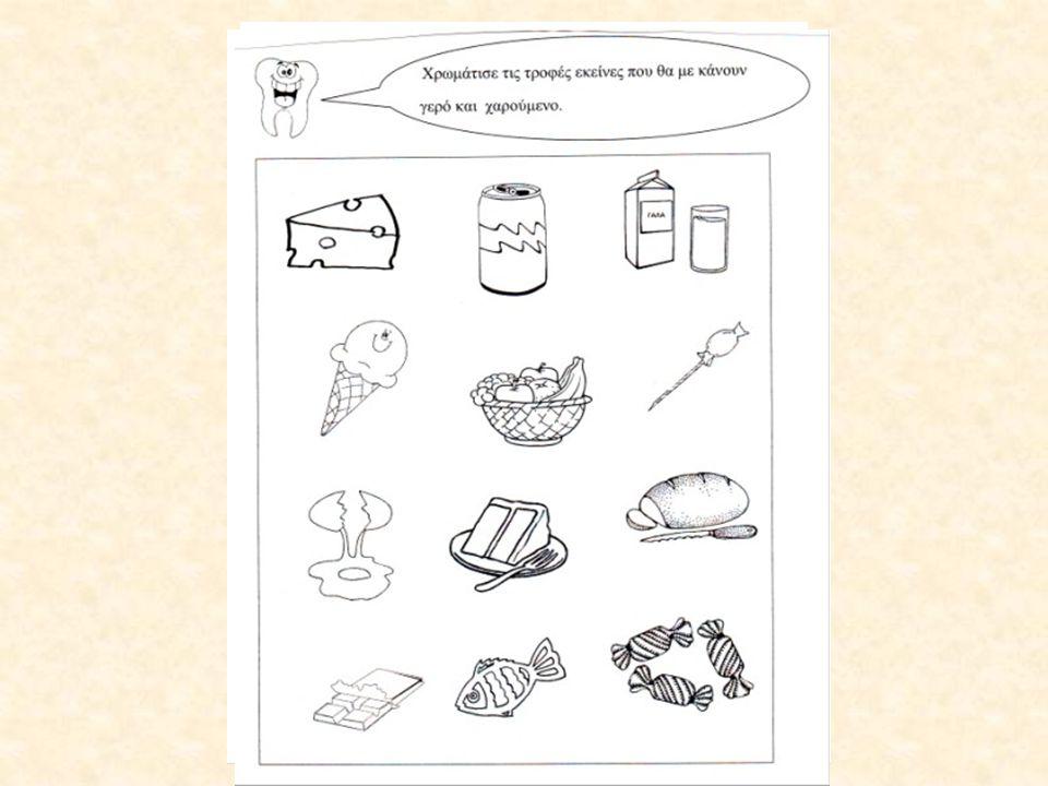 Δημιουργήσαμε αφίσα με φωτογραφίες τροφίμων από διαφημιστικά φυλλάδια.