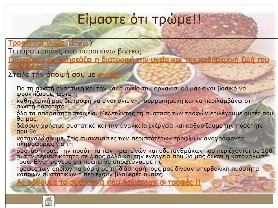 Είμαστε ότι τρώμε!! 4