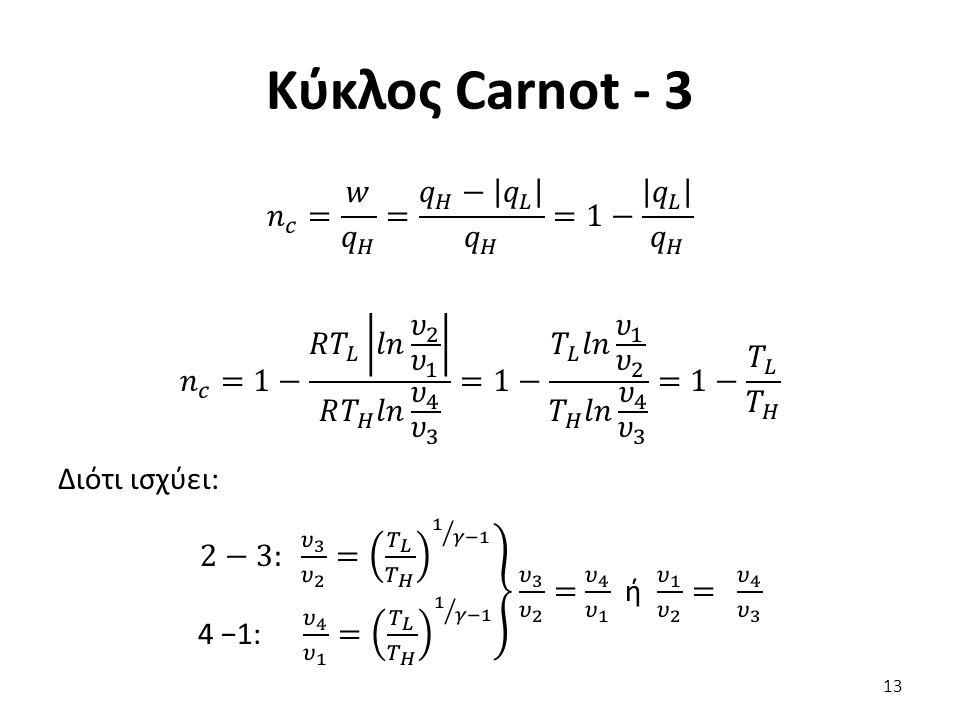 Κύκλος Carnot - 3 13