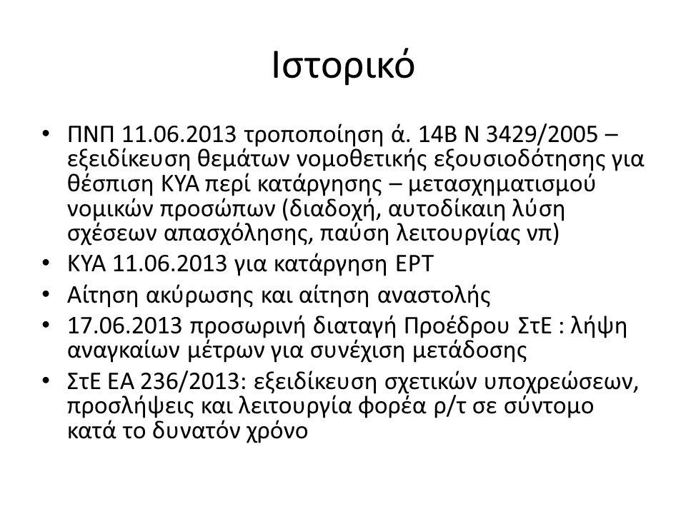 Ιστορικό ΠΝΠ 11.06.2013 τροποποίηση ά.