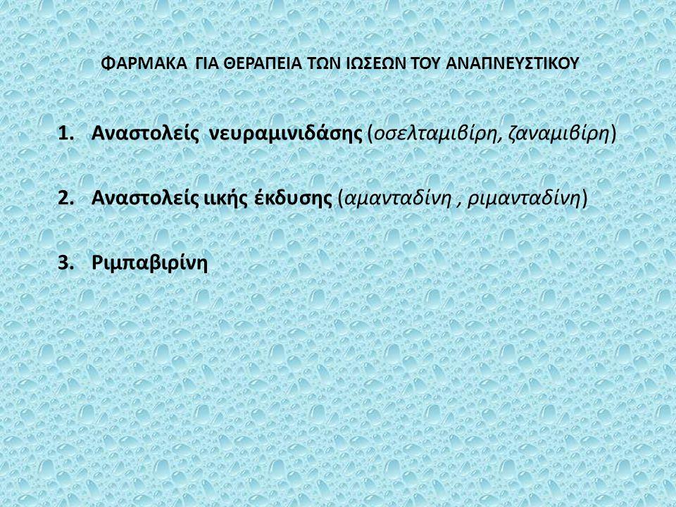 Σιδοφοβίρη Έχει εγκριθεί για την θεραπεία της αμφιβληστροειδίτιδας από κυτταρομεγαλοϊό σε ασθενείς με AIDS Αναστέλλει την σύνθεση του ιικού DNA Χορηγείται ενδοφλεβίως, ενδοϋαλοειδώς και τοπικά Ανεπιθύμητες ενέργειες: νεφροτοξική δράση, ουδετεροπενία, μεταβολική οξέωση και μείωση της ενδοφθάλμιας πίεσης Για να μειωθεί η νεφροτοξική της δράση συγχορηγείται σιδοφοβίρη ή προβενεσίδη
