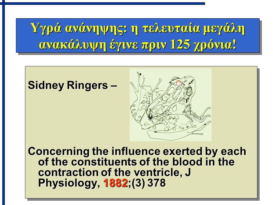 Υγρά ανάνηψης: η τελευταία μεγάλη ανακάλυψη έγινε πριν 125 χρόνια! Sidney Ringers – Concerning the influence exerted by each of the constituents of th