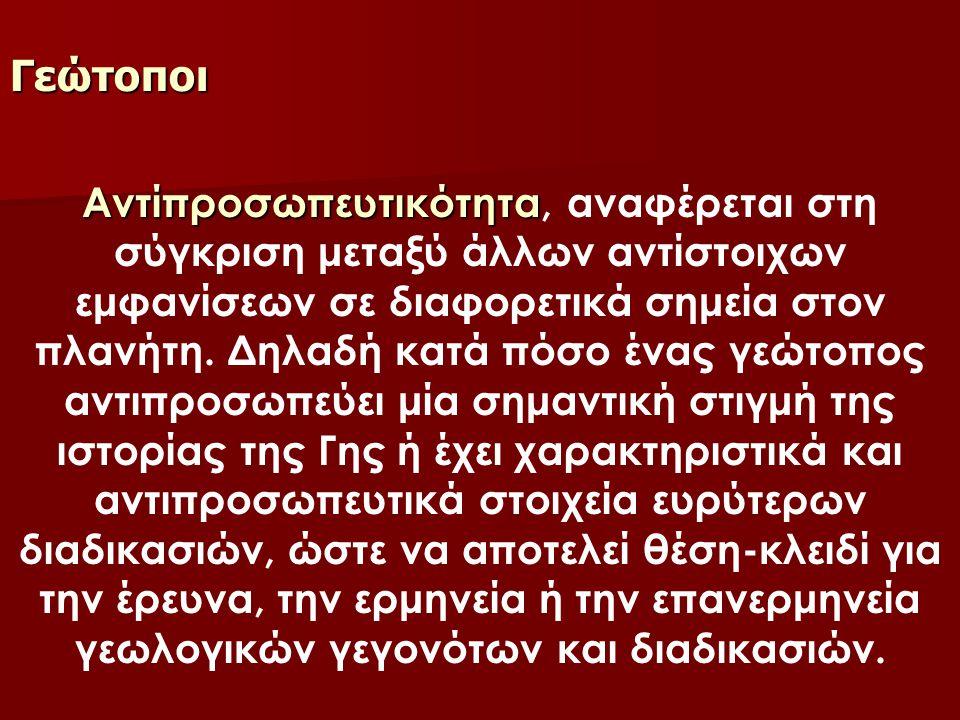 Γεώτοποι Β) ΑΤΤΙΚΗ Λατομεία λευκού μαρμάροu Πεντέλης Αρχαία λατομεία Υμηττού Αρχαίο λατομείο μαρμάροu Αρχαίο λατομείο ασβεστολίθοu Σπήλαιο Κερατέας Πικέρμι (Aπoλιθωματοφόρες θέσεις) Βραώνα (Σπηλαιοδολίνη: Απολιθωματοφόρες θέσεις θηλαστικών) Σπήλαιο Κοuτούκι Παιανίας Σπήλαιο Πανός Ακρόπολη των Αθηνών Μουσείο Πανεπιστημίοu Αθηνών Μουσείο Παλαιοντολογίας και Γεωλογίας Μουσείο Ορυκτολογίας και Πετρολογίας Μουσείο Γουλανδρή Φυσικής Ιστορίας Λαύριο - Αρχαία μεταλλεία Ορυκτολογικό Μουσείο Λαυρίου Ορυκτολογικό Μουσείο Αγίου Κωνσταντiνου (Καμάριζας) Λαυρεωτικής Καρστική λίμνη Boυλιαγμένης ΝΗΣΙΑ ΣΑΡΩΝΙΚΟΥ ΣΑΛΑΜΙΝΑ Σπήλαιο Ευριπίδη ΑΙΓΙΝΑ Hφαιστειακή φλέβα (dyke) Βραχονησίδας