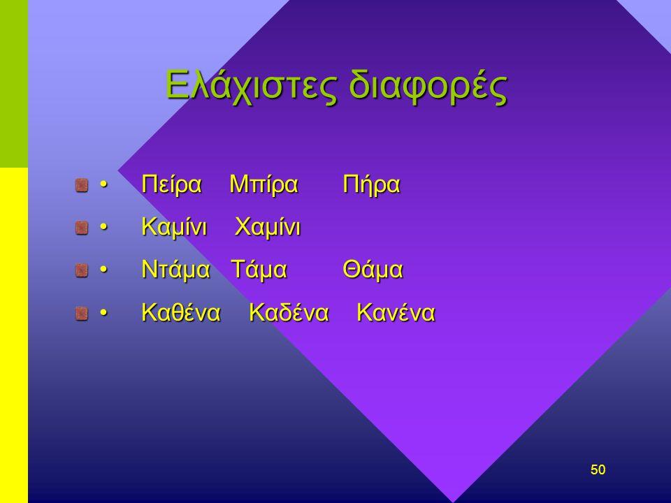 49 Δάνεισε λέξεις και φράσεις γενικού λεξιλογίου εκλαϊκευμένοι διεθνισμοί π.χ. système, diplôme, géographie, philosophe- είτε στοιχεία που έγιναν κτήμ
