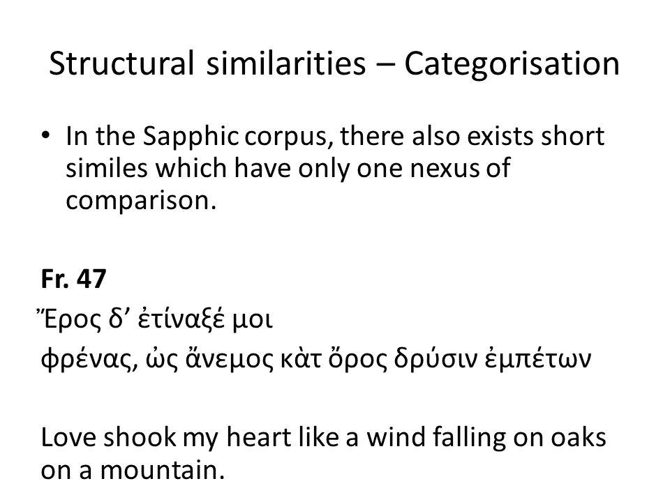 Structural similarities – Categorisation Fr.