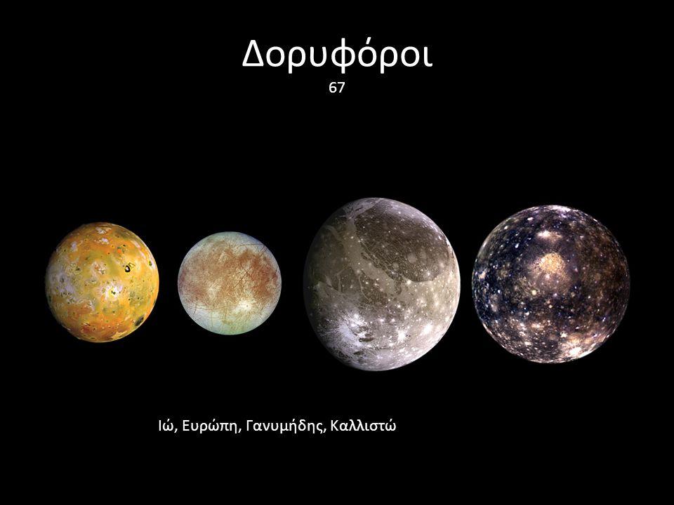 Δορυφόροι 67 Ιώ, Ευρώπη, Γανυμήδης, Καλλιστώ