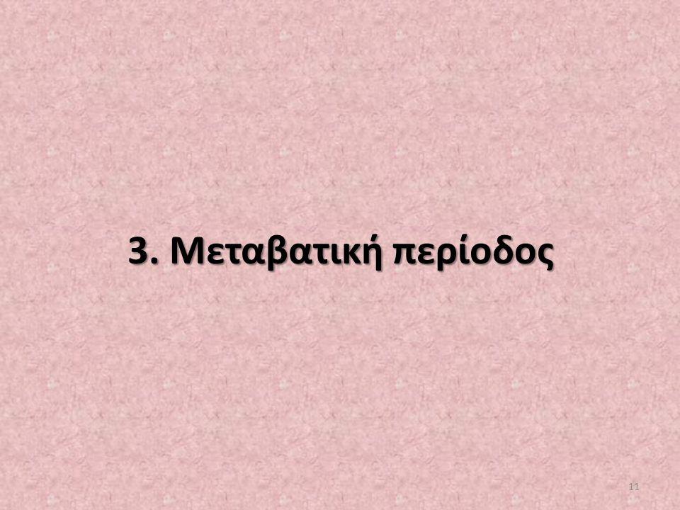 3. Μεταβατική περίοδος 11