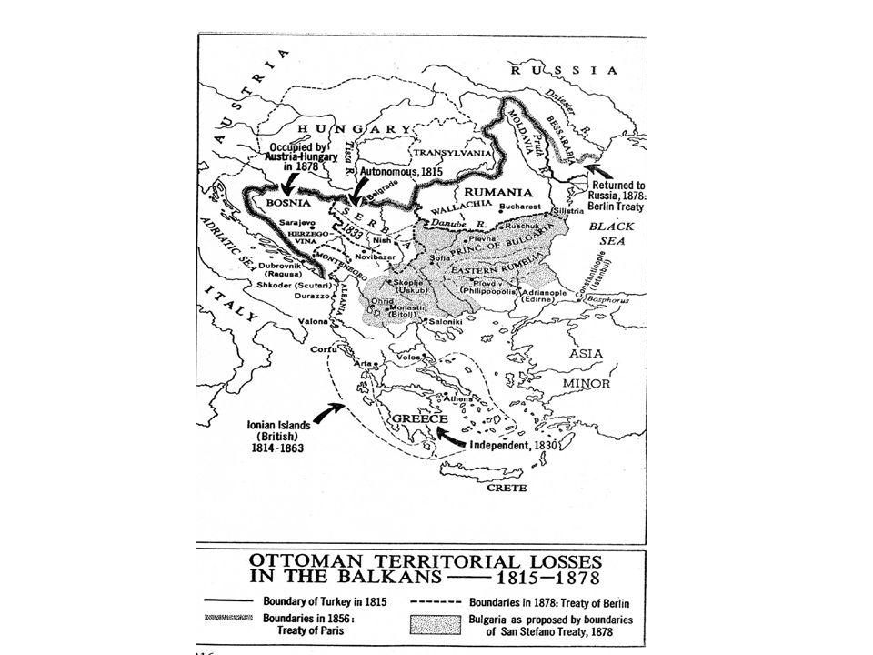 Η εθνική «αφύπνιση» των βαλκανικών λαών Η παρακμή της οθωμανικής αυτοκρατορίας ευνόησε την οικονομική και πνευματική ανάπτυξη των υποδούλων λαών.