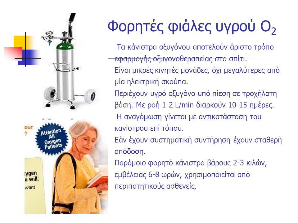 Τα κάνιστρα οξυγόνου αποτελούν άριστο τρόπο εφαρμογής οξυγονοθεραπείας στο σπίτι.