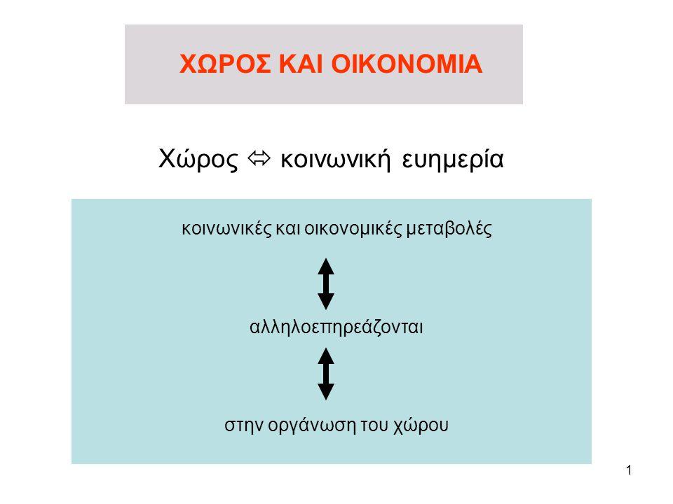 12 μέσα στον οικονομικό χώρο ο άνθρωπος αναπτύσσει τις οικονομικές του δραστηριότητες η οικονομική υποδομή για την επιλογή του χώρου ρόλο παίζουν οι υποδομές τα γεωγραφικά χαρακτηριστικά συνεπώς η επιλογή υπόκειται σε περιορισμούς που προέρχονται από την οργάνωση του χώρου Η ΟΡΓΑΝΩΣΗ ΤΟΥ ΧΩΡΟΥ………………………………………………