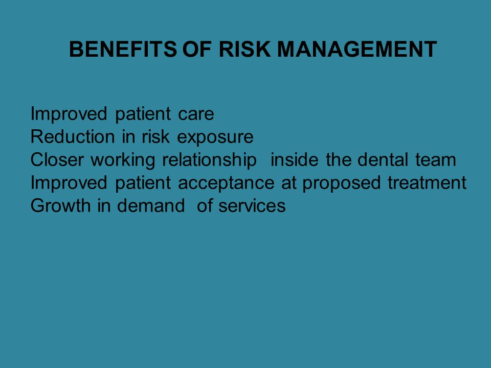 AIMS OF RISK MANAGEMENT Assess continuously what could go wrong Determine which risks are important to deal with Implement strategies to deal with no risks