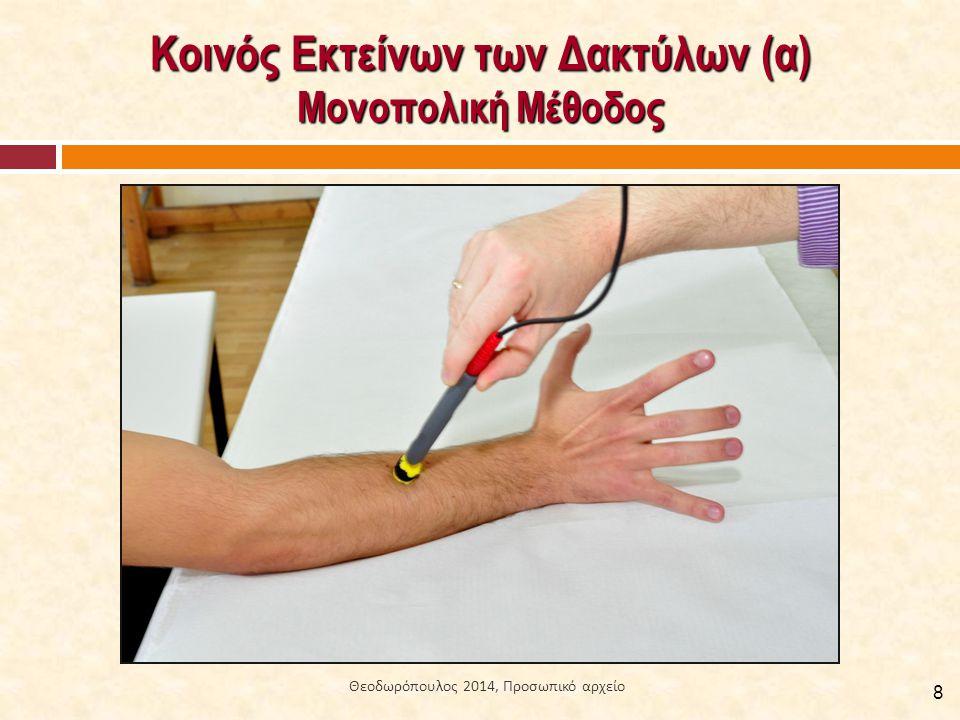 Κοινός Εκτείνων των Δακτύλων (α) Μονοπολική Μέθοδος 8 Θεοδωρόπουλος 2014, Προσωπικό αρχείο
