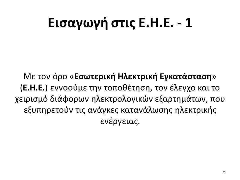 Εισαγωγή στις Ε.Η.Ε.- 2 Τις Ε.Η.Ε.