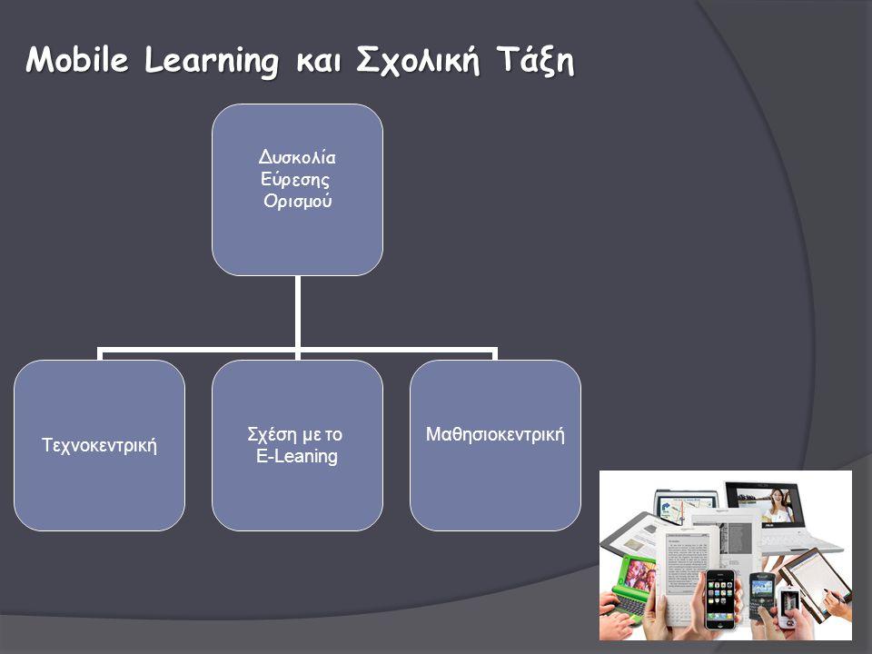 Δυσκολία Εύρεσης Ορισμού Τεχνοκεντρική Σχέση με το Ε-Leaning Mαθησιοκεντρική