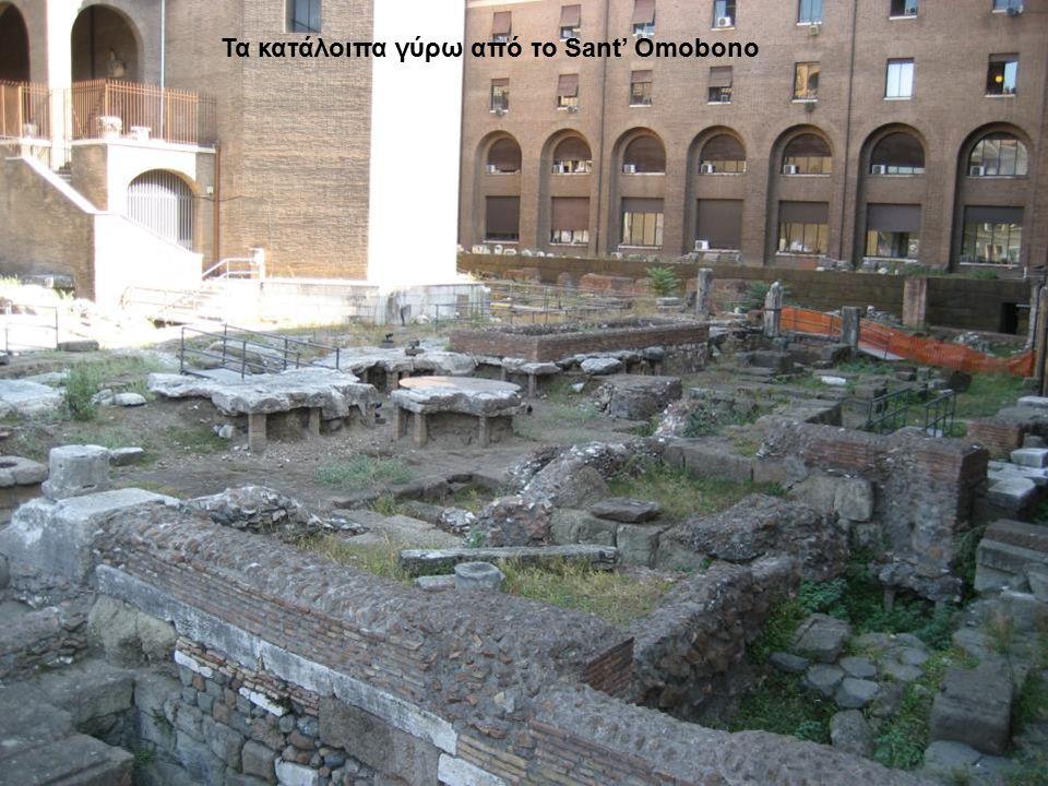 Τα κατάλοιπα γύρω από το Sant' Omobono