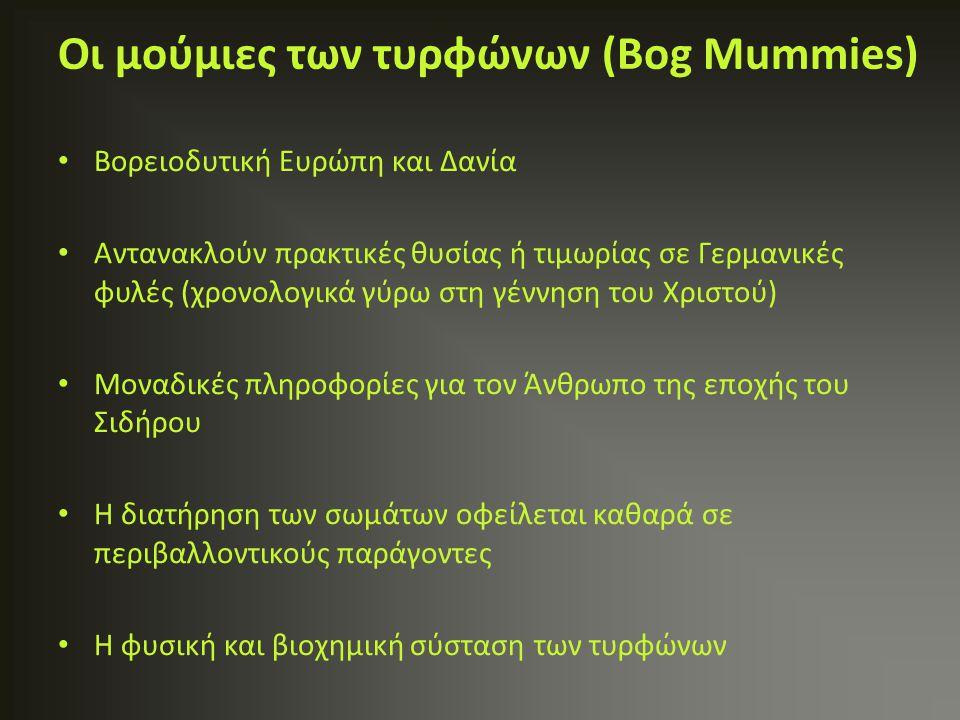 Οι μούμιες των τυρφώνων (Bog Mummies) Βορειοδυτική Ευρώπη και Δανία Αντανακλούν πρακτικές θυσίας ή τιμωρίας σε Γερμανικές φυλές (χρονολογικά γύρω στη