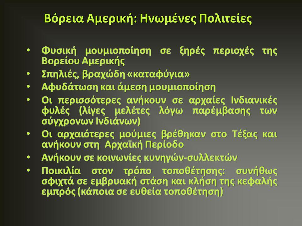 'Τεχνίτες καλαθιών' (Basket makers: ημι-νομάδες, 100- 700 μ.Χ.) Κοντό ύψος με πυκνό σπαστό μαύρο μαλλί, καστανό δέρμα Οι μούμιες τοποθετούνταν σε λάκκους ή πετρόχτιστα ανοίγματα, που είχαν δημιουργηθεί για αποθηκευτικούς λόγους Περιπτώσεις όπου το σώμα τοποθετούνταν σε μια γωνία της σπηλιάς σχεδόν αμέσως μετά θάνατο.