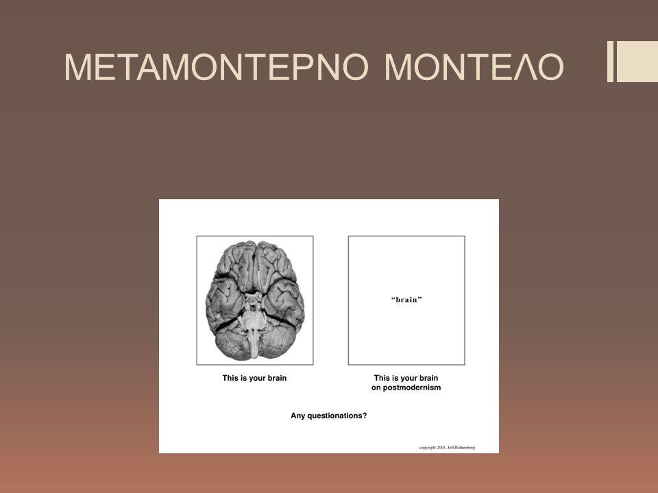 ΜΕΤΑΜΟΝΤΕΡΝΟ ΜΟΝΤΕΛΟ