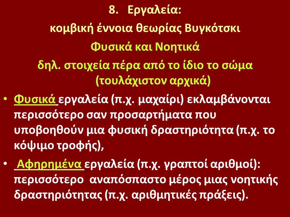 8.Εργαλεία: κομβική έννοια θεωρίας Βυγκότσκι Φυσικά και Νοητικά δηλ.