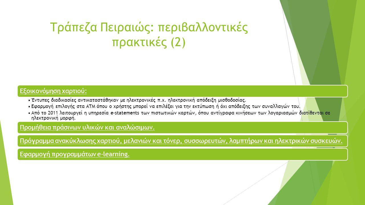 Alpha Bank: Πράσινα Δάνεια Alpha Πράσινες Λύσεις – Οικολογική Επιχείρηση: απευθύνεται σε επιχειρήσεις που επιθυμούν ενεργειακή αναβάθμιση της επαγγελματικής τους στέγης και την εγκατάσταση φωτοβολταϊκών συστημάτων ισχύος έως 10Kw.
