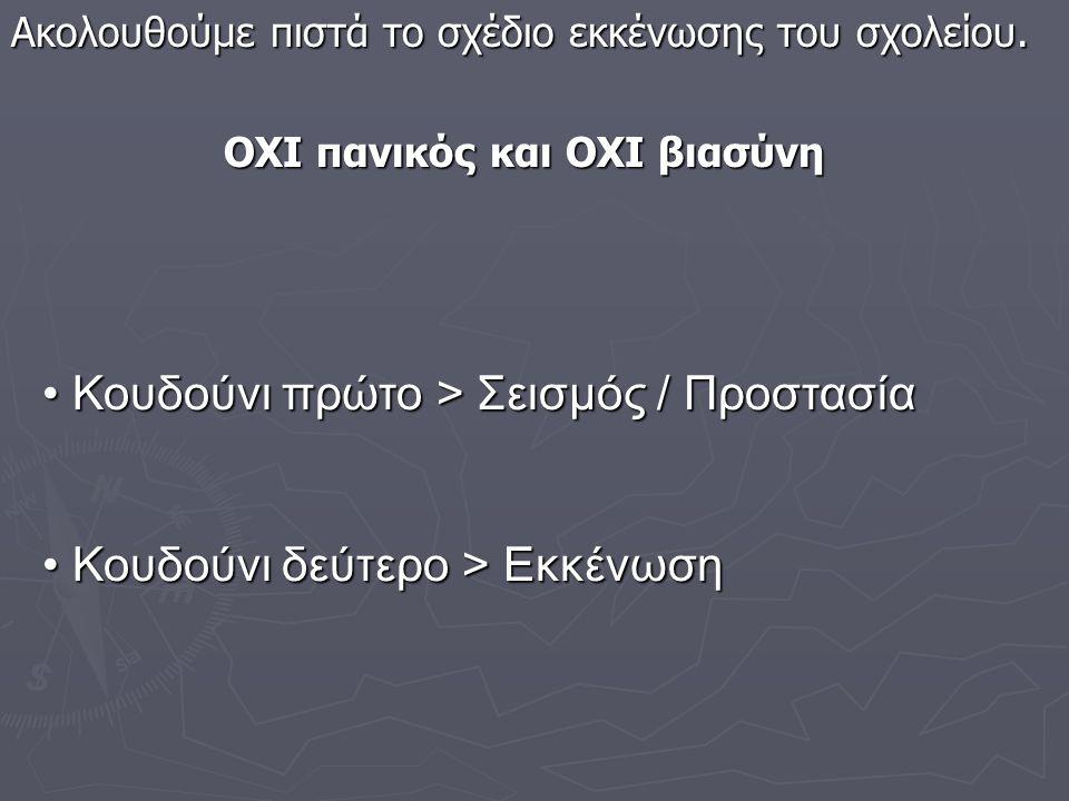 Ο ΣΕΙΣΜΟΣ ΣΤΟ ΣΧΟΛΕΙΟ