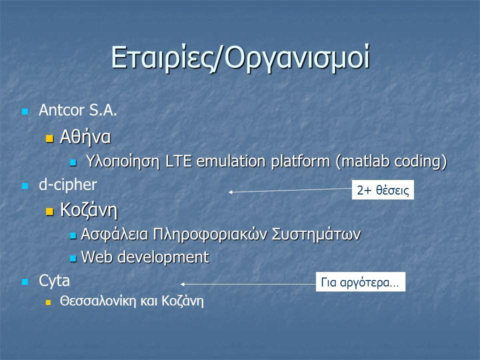 Εταιρίες/Οργανισμοί Antcor S.A.