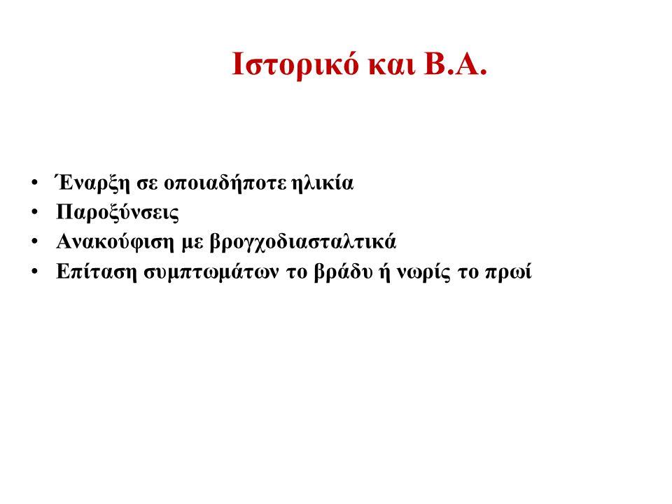 Ιστορικό και Β.Α.