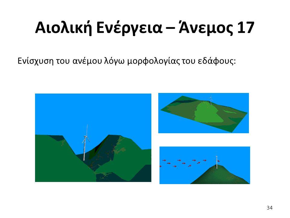 Αιολική Ενέργεια – Άνεμος 17 Ενίσχυση του ανέμου λόγω μορφολογίας του εδάφους: 34