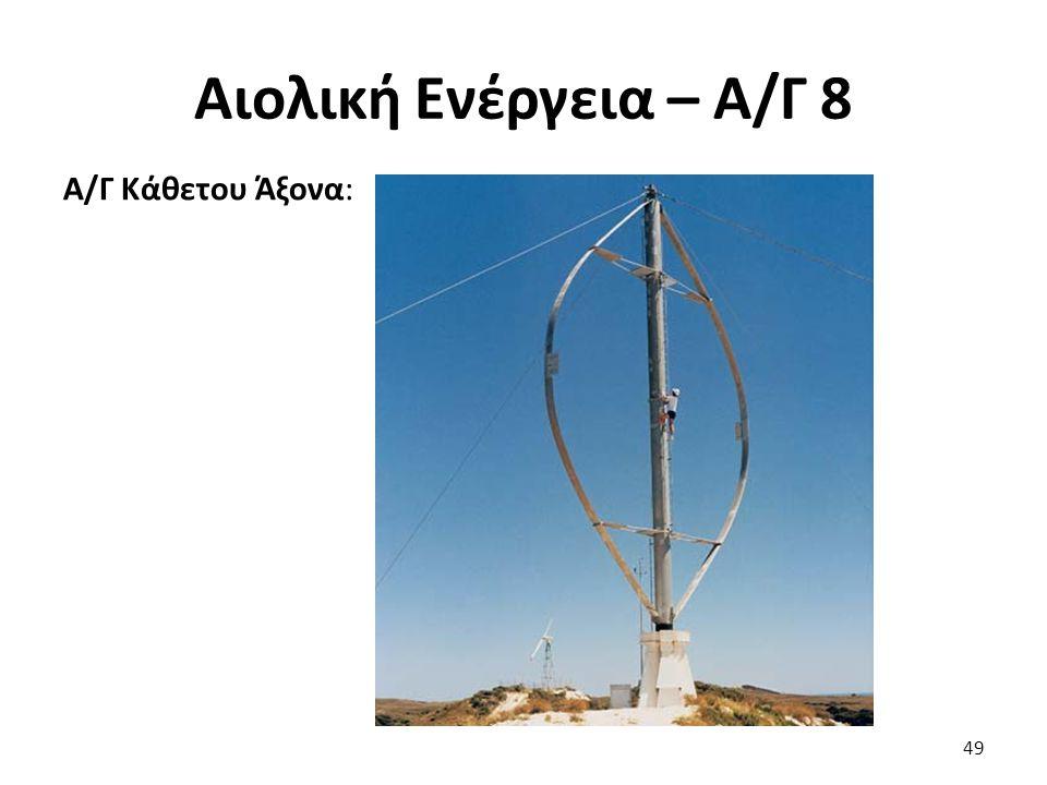 Αιολική Ενέργεια – Α/Γ 8 Α/Γ Κάθετου Άξονα: 49