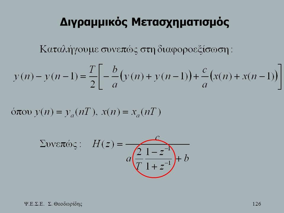 Ψ.Ε.Σ.Ε. Σ. Θεοδωρίδης 126 Διγραμμικός Μετασχηματισμός