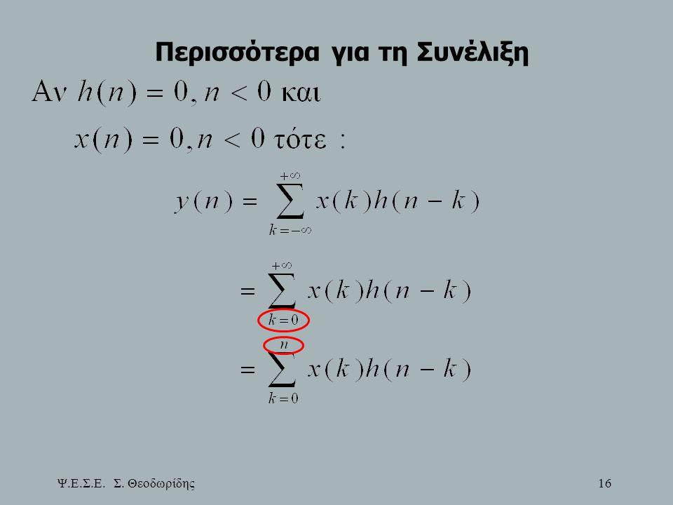 Ψ.Ε.Σ.Ε. Σ. Θεοδωρίδης 16 Περισσότερα για τη Συνέλιξη