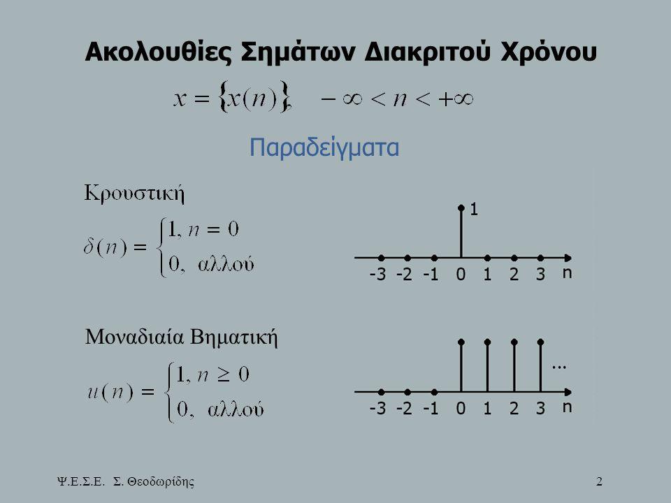 Ψ.Ε.Σ.Ε. Σ. Θεοδωρίδης 143 Μετασχηματισμοί Φίλτρων: Κατωπερατό σε Κατωπερατό Άρα: