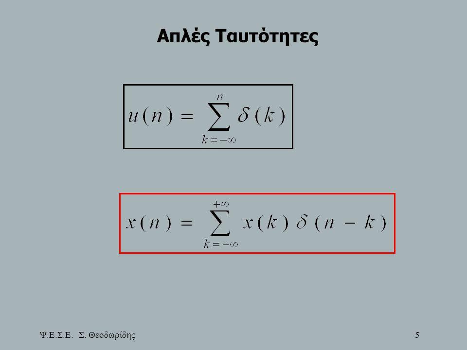 Ψ.Ε.Σ.Ε. Σ. Θεοδωρίδης 106 Απόκριση Συχνοτήτων ΓΧΑ Συστημάτων Πόλοι-Μηδενικά-Φυσική Σημασία ή