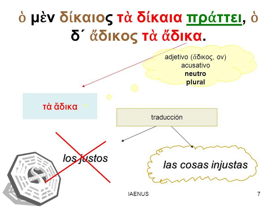 IAENUS8 DIÁTESIS VERBAL (δι θεσις) vb.