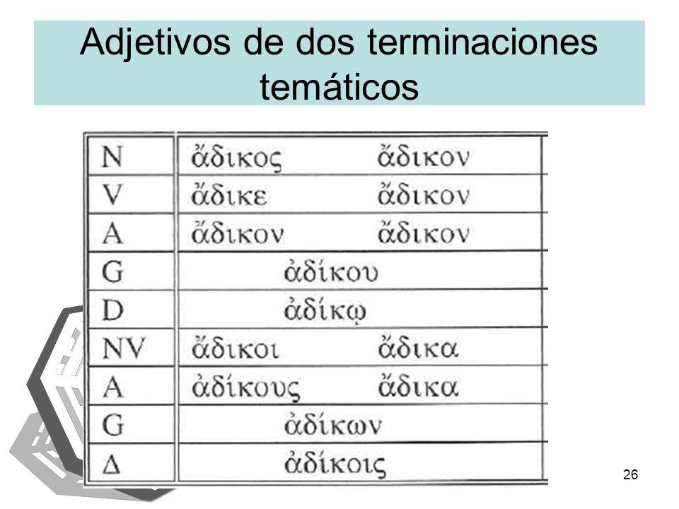 IAENUS26 Adjetivos de dos terminaciones temáticos